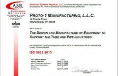 ISO 9001 2015 Cert