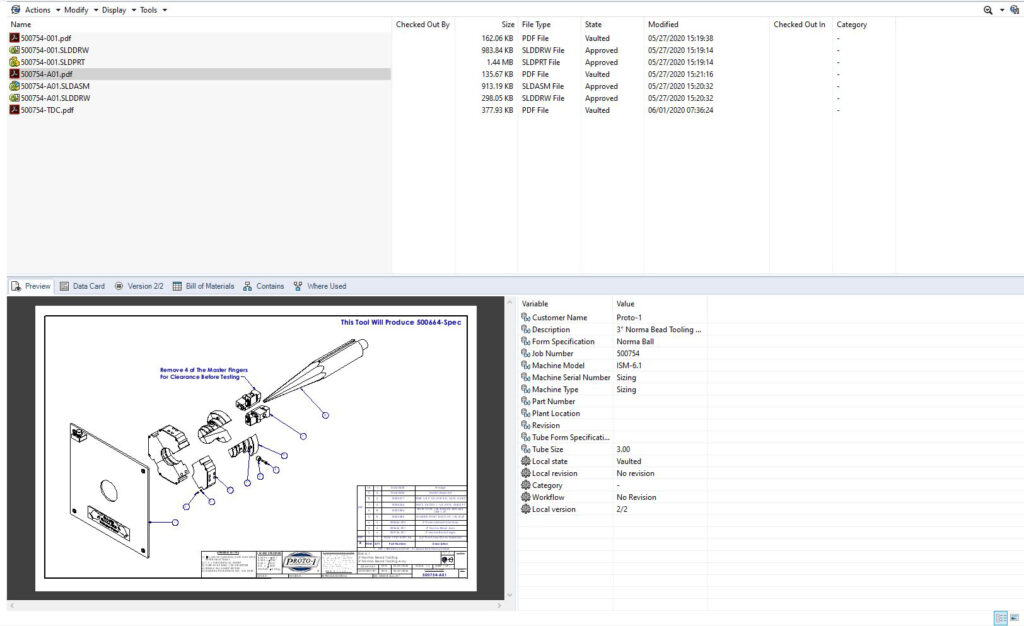 PDM Digital Storage with Drawing